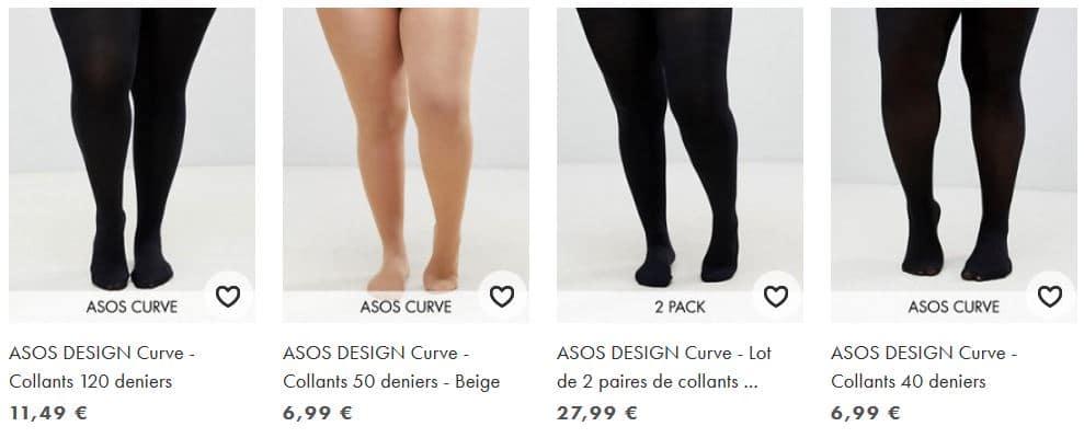 comment choisir ses collants grande taille asos curve