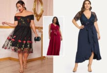 comment choisir une robe de ceremonie grande taille femme ronde