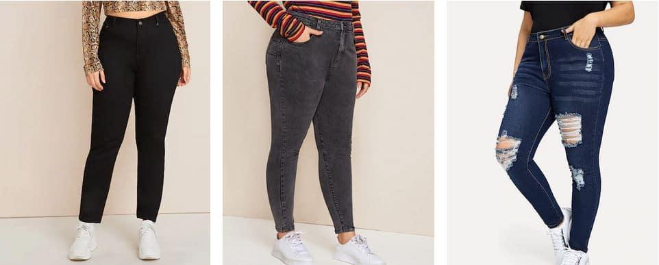 jean grande taille femme ronde