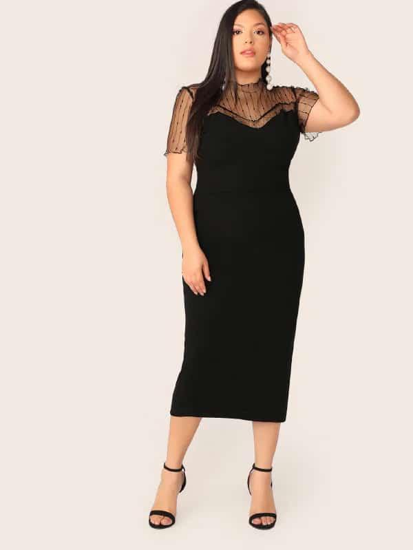robe de ceremonie femme ronde grosses hanches 2