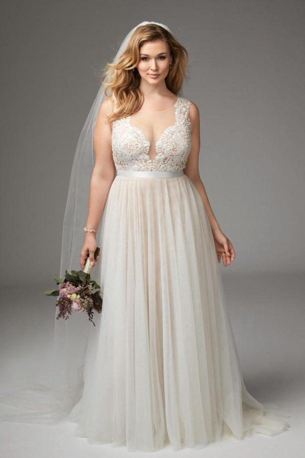 robe de mariee femme ronde grande forme empire