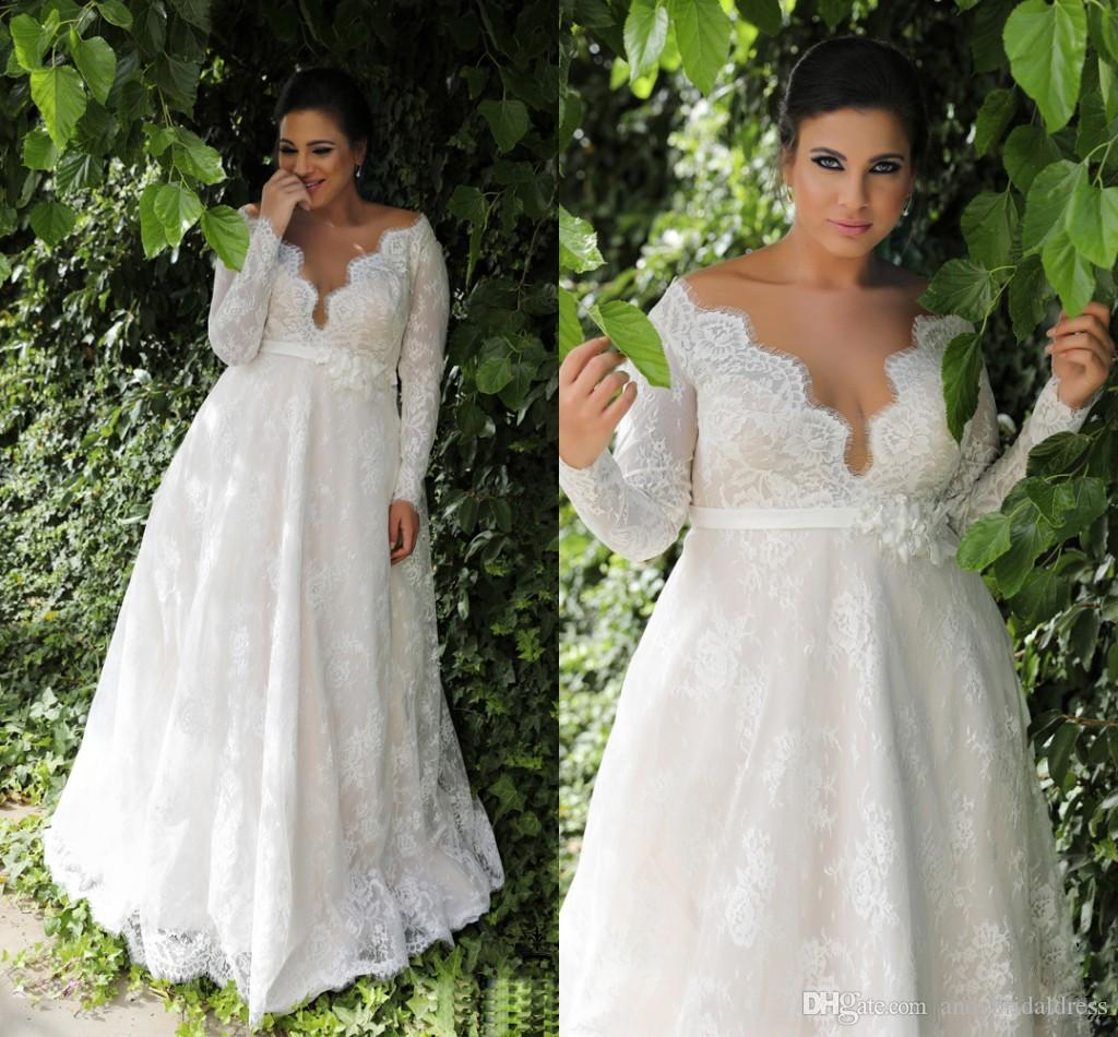 robe de mariee grande taille avec du ventre