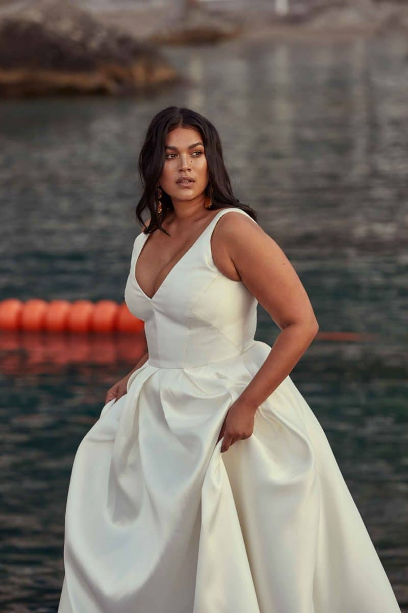 robe de mariee grande taille morphologie en H