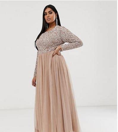 robe demoiselle honneur mariage femme ronde