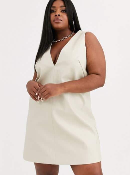 robe grande taille simple pour femme ronde et petite