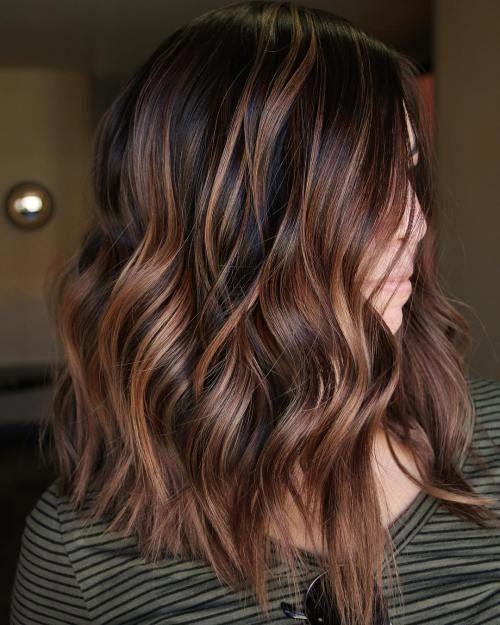 Hair contouring brune