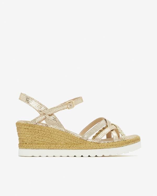 San MArina chaussure compensée dorée