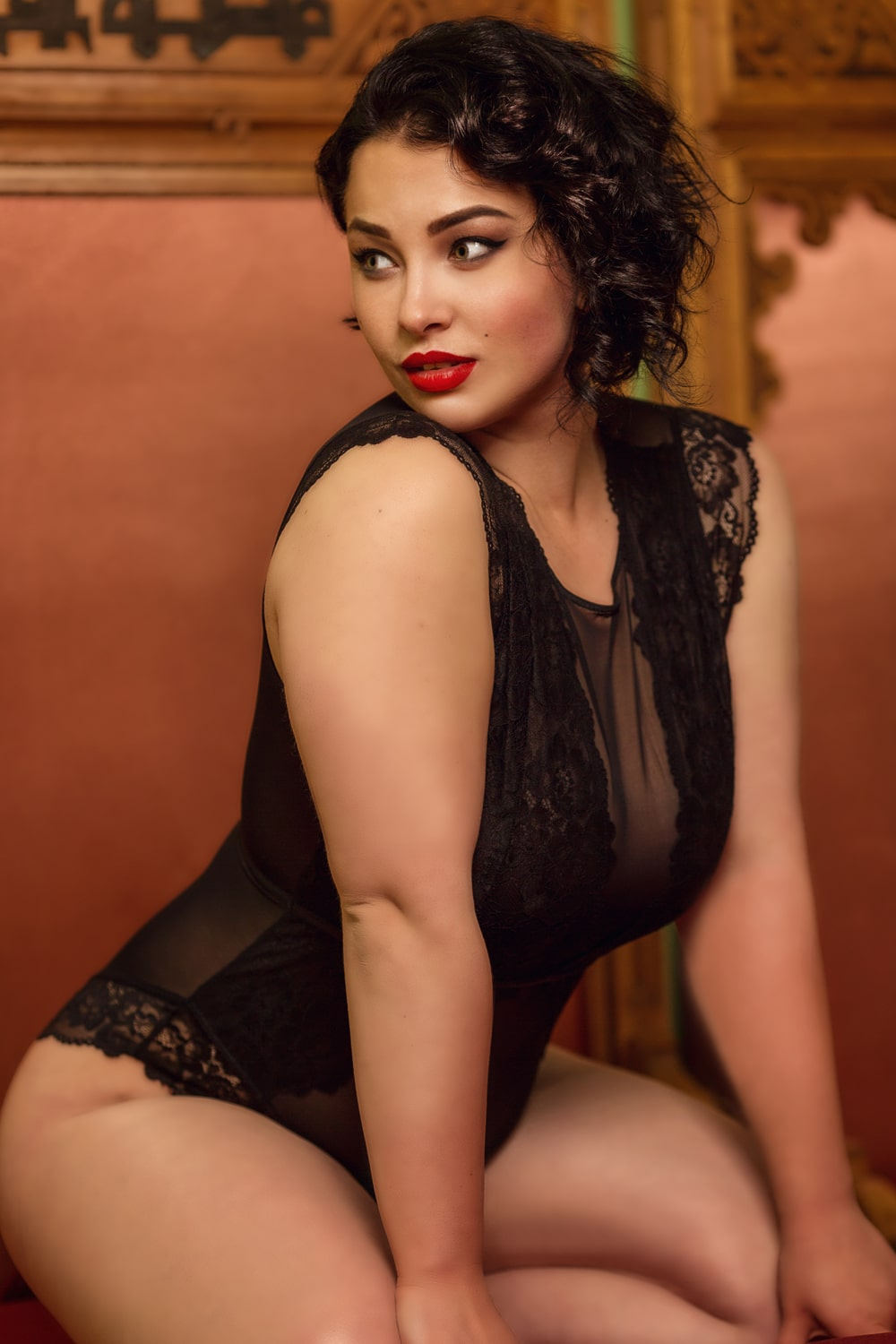 lingerie sexy femme ronde