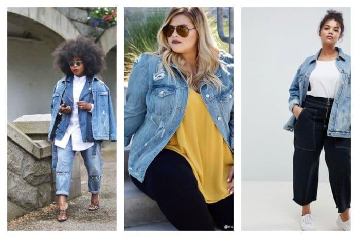 Comment porter la veste longue en jean quand on est ronde
