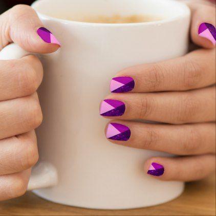 idée nail art géométrique