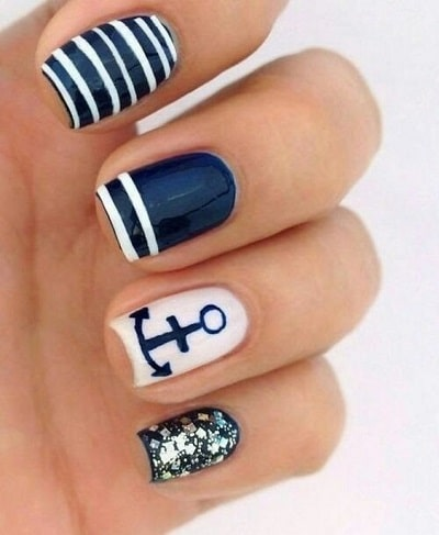 le nail art marin