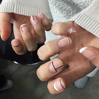 nail art tendance géométrique