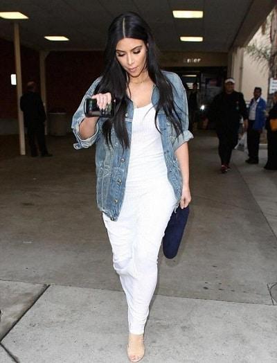 veste en jean longue femme rondeurs
