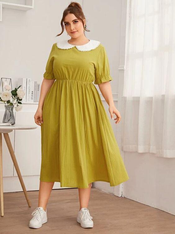 robe guinguette pour femme ronde