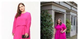La robe fuchsia s'approprier la tendance quand on est ronde