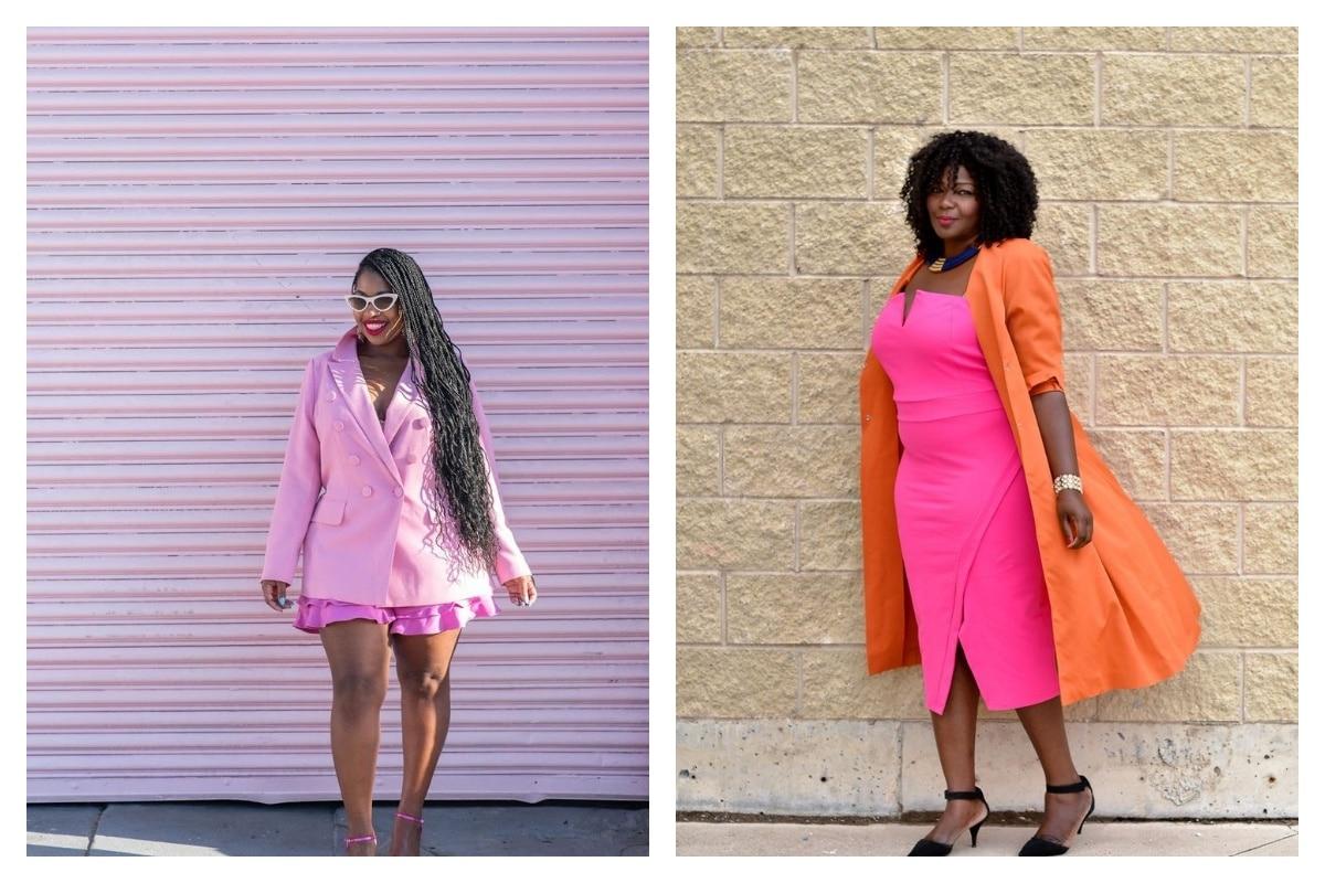 robe rose fuchsia femme ronde